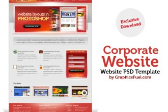 Corporate website PSD template