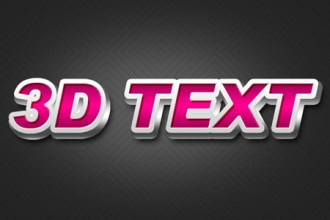 Create a 3D text effect in Photoshop