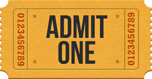 Admit-one ticket icons (PSD) - GraphicsFuel
