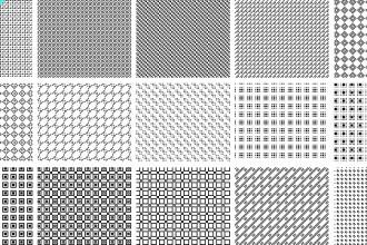 15 pixel patterns