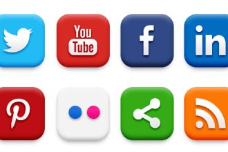 20 Popular Social Media Icons (PSD & PNG)