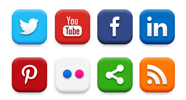 20 Popular Social Media Icons (PSD & PNG) - GraphicsFuel