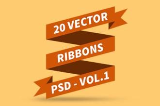 PSD Vector Ribbons Vol.1