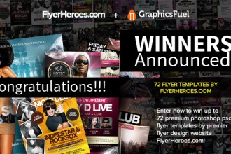 Winners Announced: 72 Photoshop PSD Nightclub Flyer Templates From FlyerHeroes