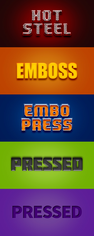 text-styles-emobss-press-psd