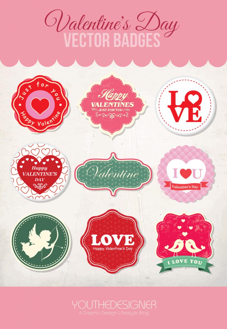 valentine-vector-badges