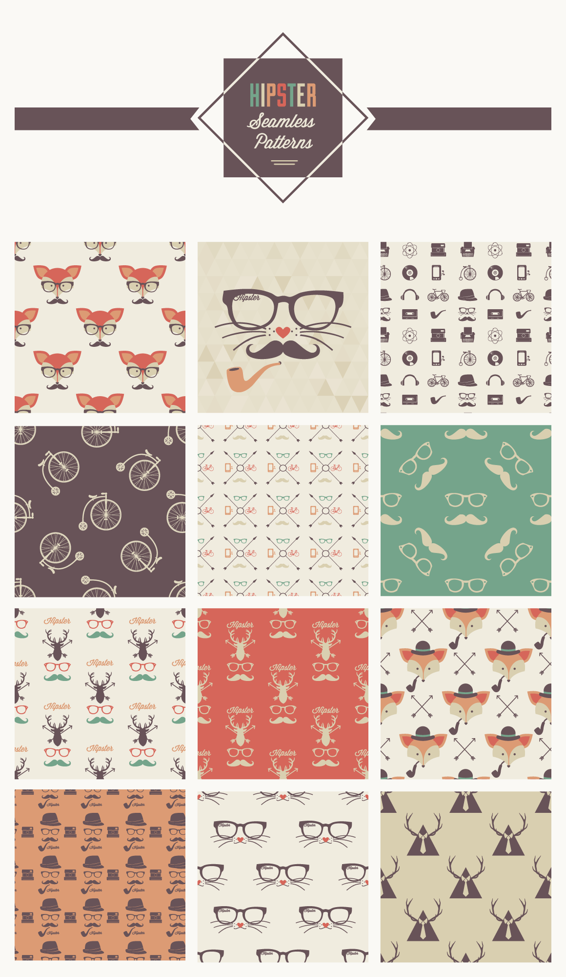 hipster-seamless-patterns