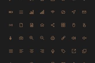 80 Crispy Stroke Icons (PSD, AI,SVG & Webfont)