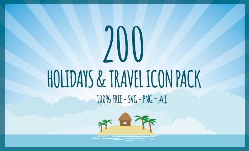 Holiday & Travel Icons Pack