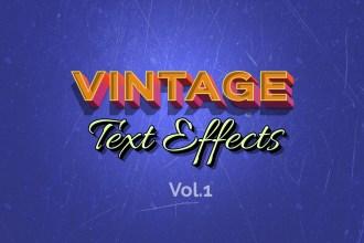 Vintage Retro Text Effects – Vol.1