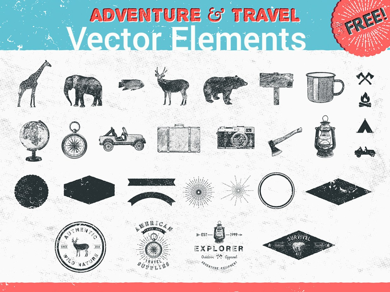 adventure-travel-vector-elements