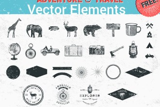 26 Adventure and Travel Vector Elements