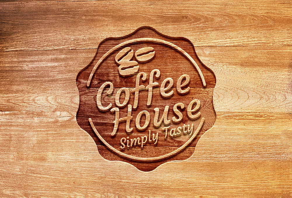 Carved Wood Logo Mockup Psd Graphicsfuel