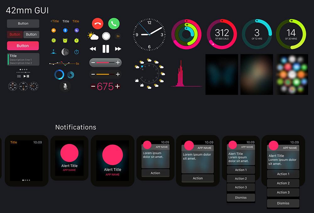 design app for mac apple watch vector gui graphicsfuel