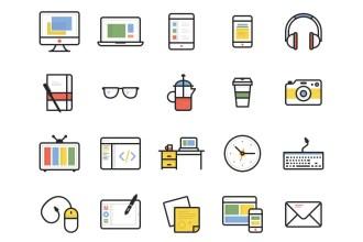 Dashel: 45 Free Vector Icons