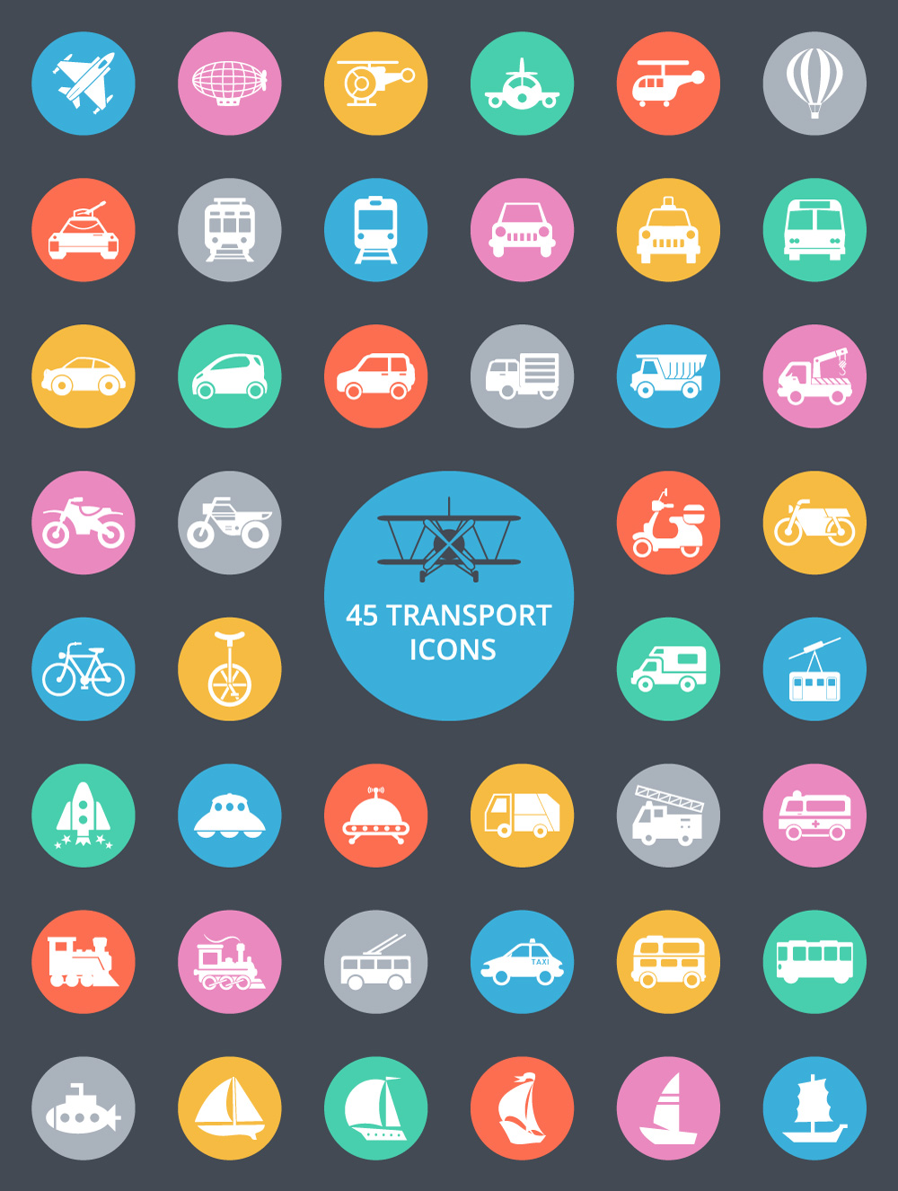 free-transport-icons