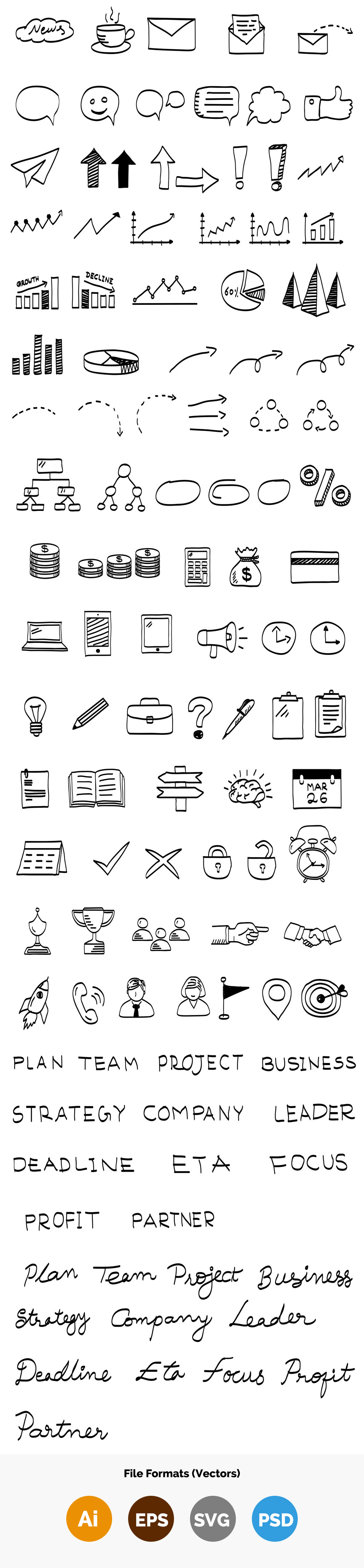 business-vector-doodle-elements