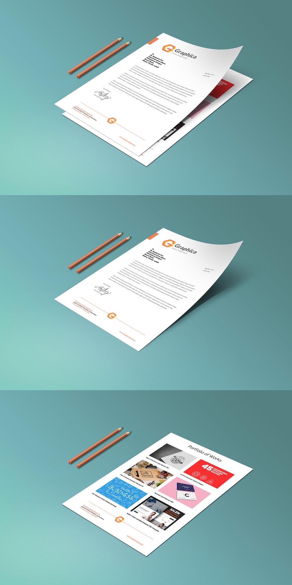 letterhead-portfolio-psd-mockup