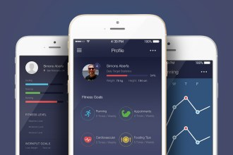 Free App UI Kit for Fitness