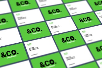 Tiled Perspective Business Card Mockup