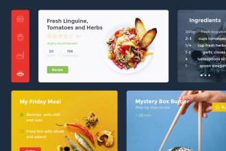 Food & Drink Free UI Kit