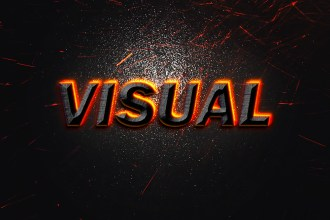 Visual Text Effect PSD
