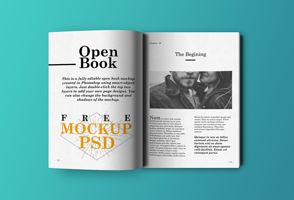 Book Cover Page Psd