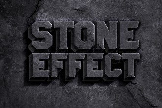 Rock Stone Text Effect PSD