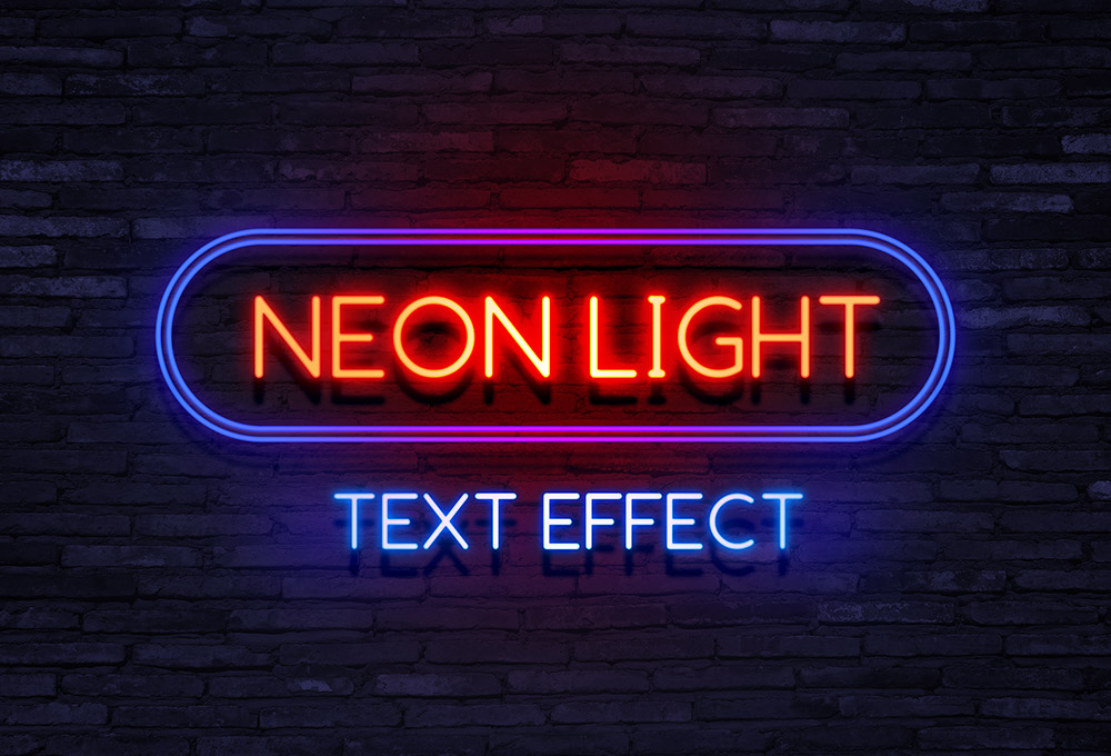Neon Light Text Effect - GraphicsFuel