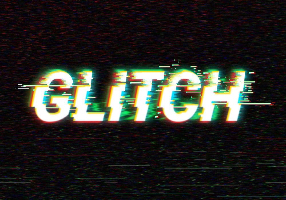 Digital Glitch Text Effect - GraphicsFuel