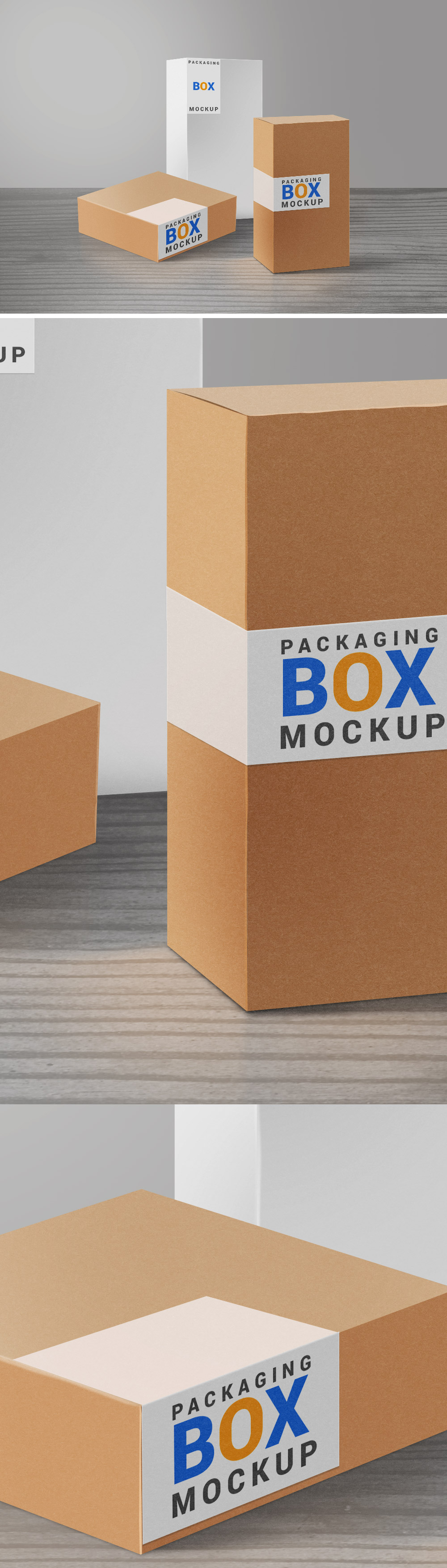 Free Packaging Boxes Mockup