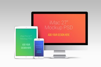 Apple Devices PSD Mockup Templates