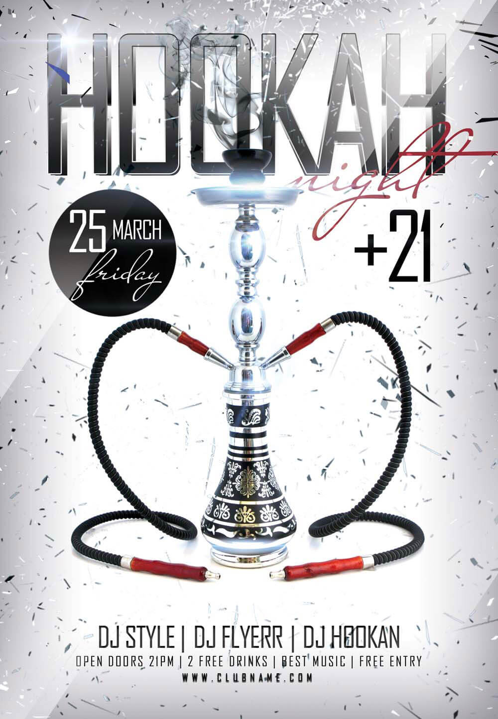 Hookah Night PSD Flyer Template
