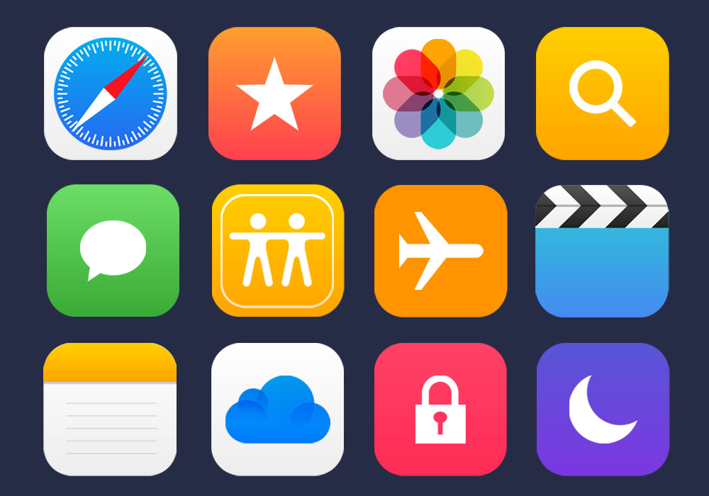 36 Apple Apps Vector Icons - GraphicsFuel