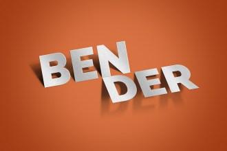 Bender Text Effect PSD