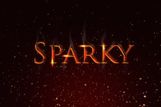 Sparky Text Effect PSD
