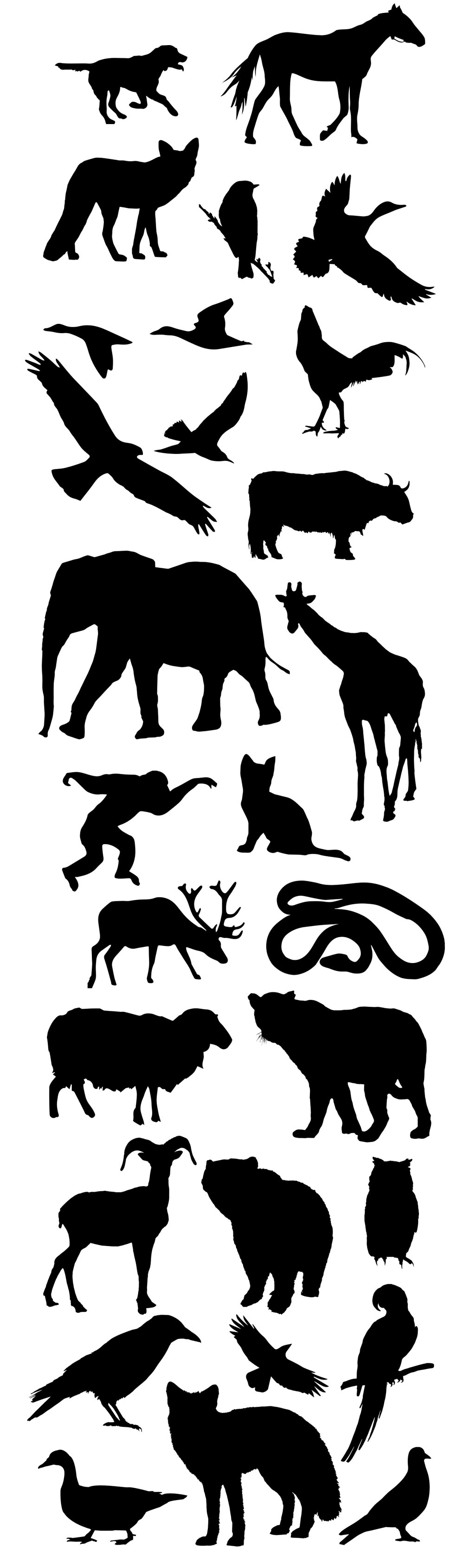 Animals & Birdsl Vector Silhouettes