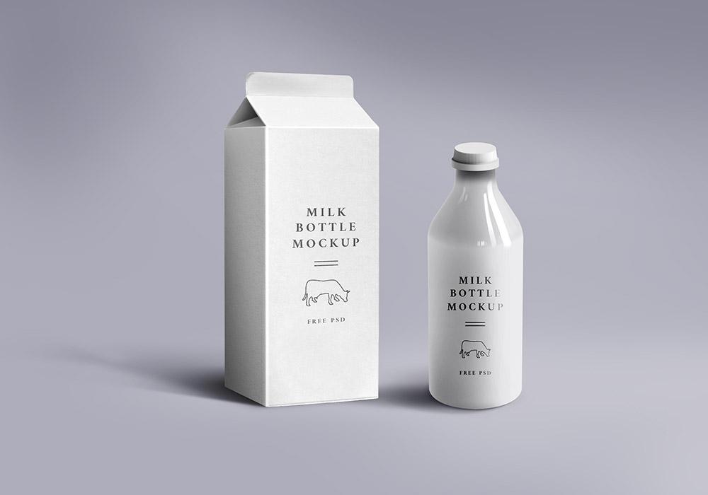 Milk Packaging Mockup