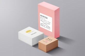 Packaging Boxes Mockup PSD