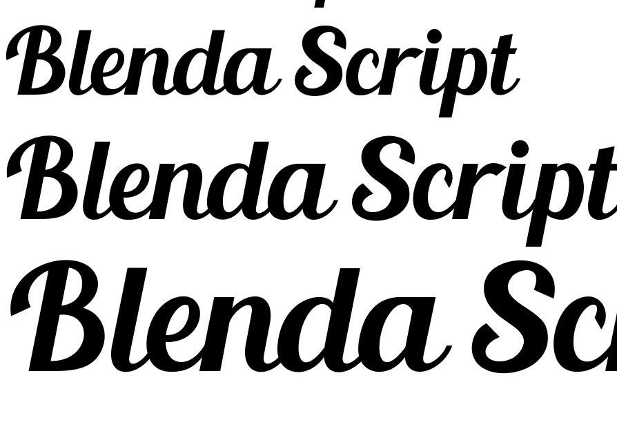 Blenda Script Font