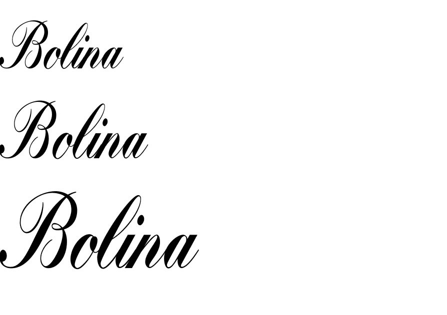 Bolina Script Font