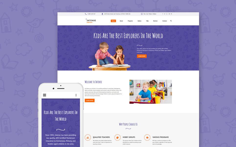 Child Care Center Website Template