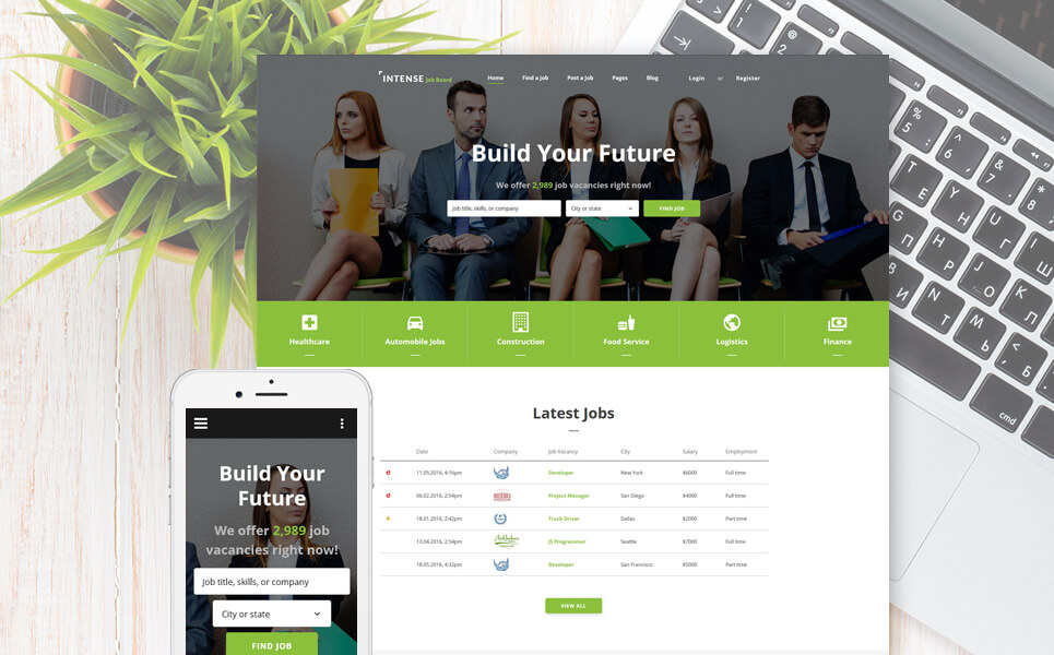 Employment Responsive Web Template