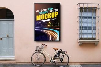Outdoor Street Poster Mockup