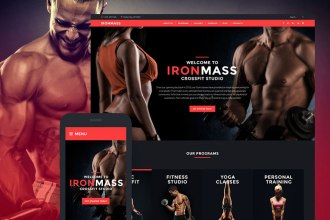 Build Website Muscles With The IronMass – A Professional Sports WordPress Theme