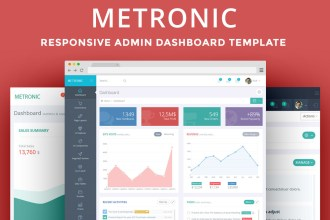 Metronic – The Best Admin Dashboard Template Available