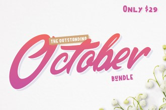 October Fonts & Graphics Design Bundle
