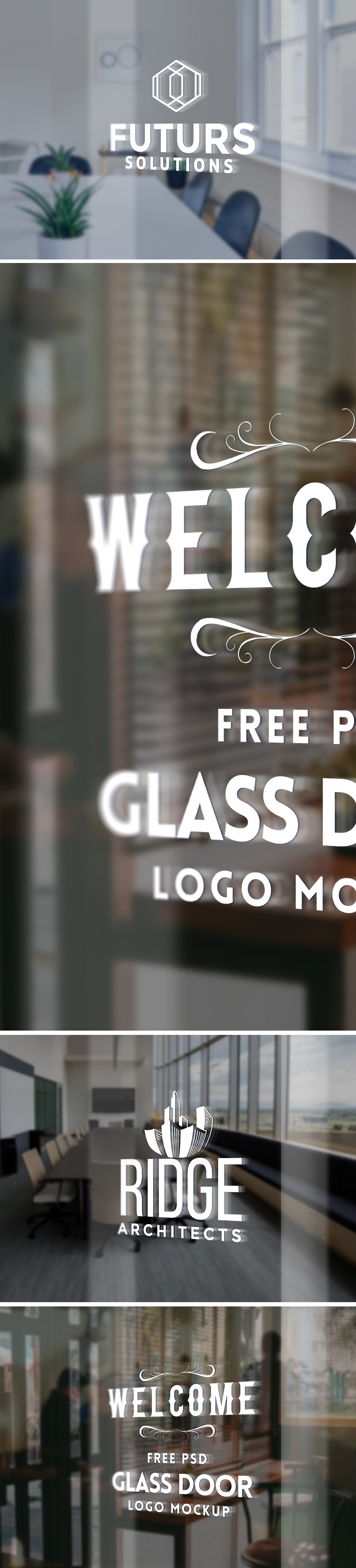 Glass door ups store - Glass Door Logo Mockup Psd