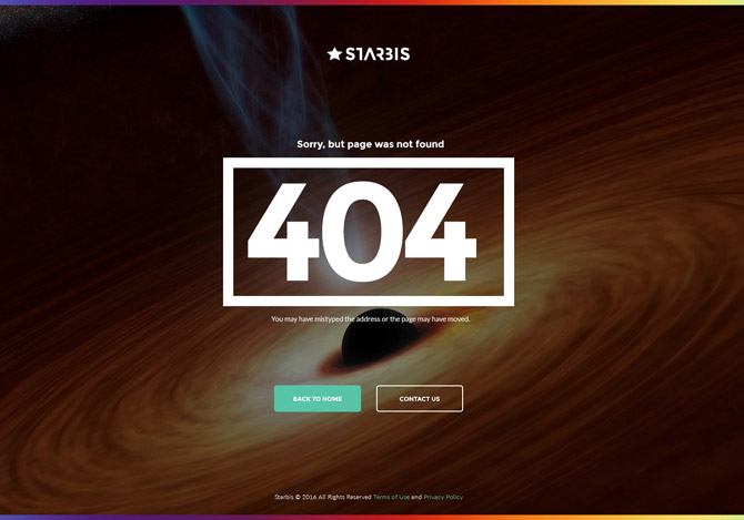 Starbis 404 Page