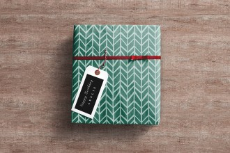 Free Gift Wrap Mockup